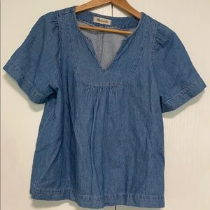 Madewell Chambray Blouse